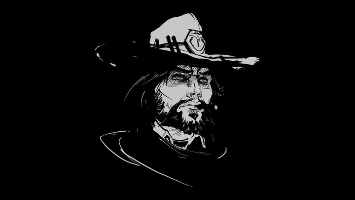 Tilt Brush - Overwatch Fanart - McCree 3D Model