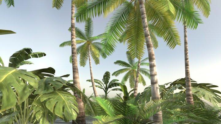 Tropical Vegetation 3D Model