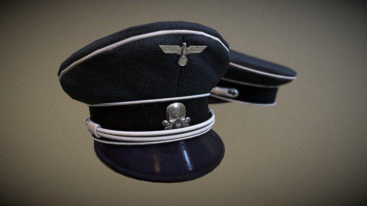 German Visored Cap 3D Model