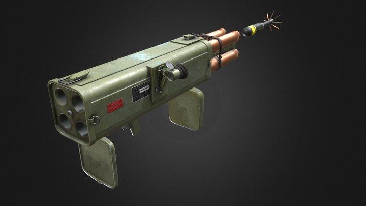 M202 Rocket Launcher 3D Model