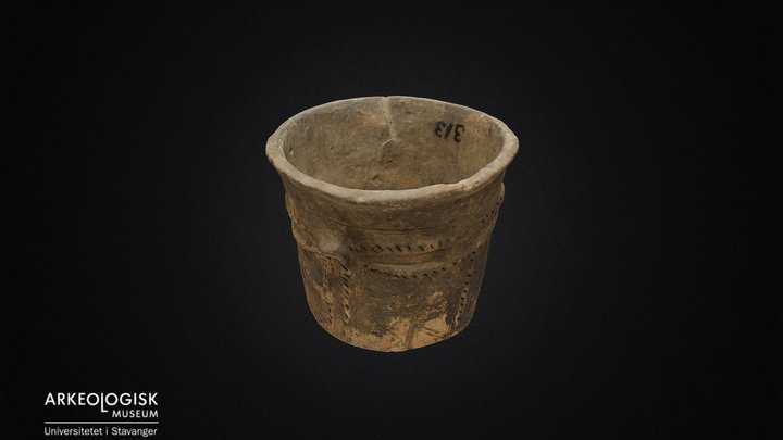 Pottery from the iron-age. 3D Model