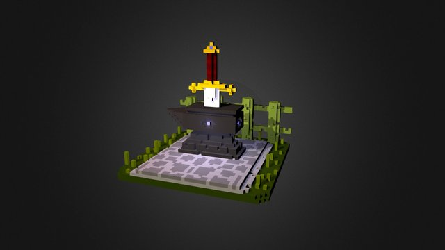 Sword and the Stone Part 2 3D Model