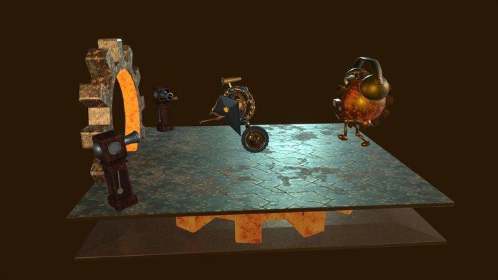 Clockwork Panic 3D Model