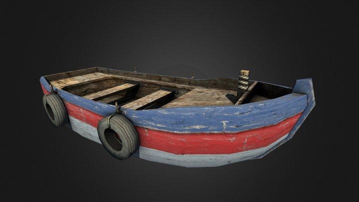 Small Wooden Boat 3D Model