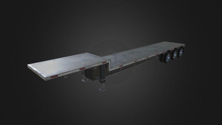 Flatbed Truck Trailer 3D Model