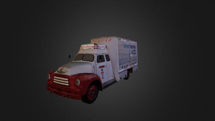 Europian Classic Vehicle 01 3D Model