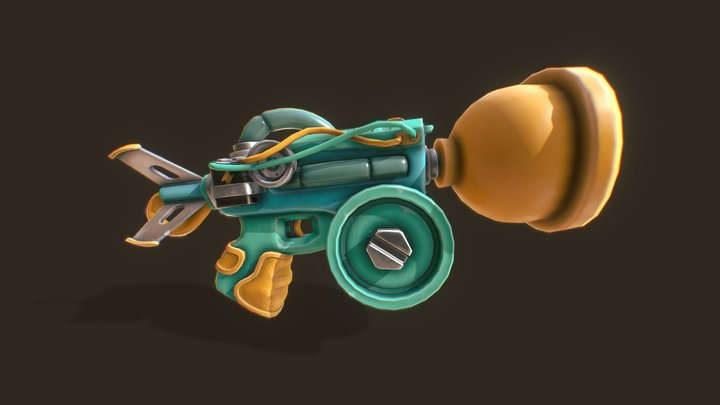 SuckerGun 3D Model