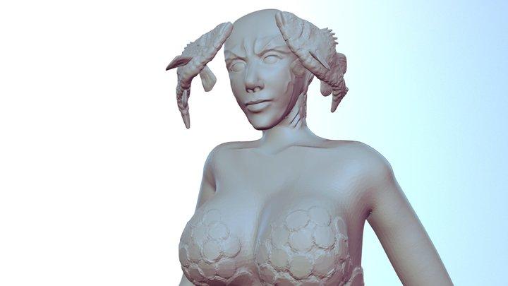 Day 6 Monster 3D Model