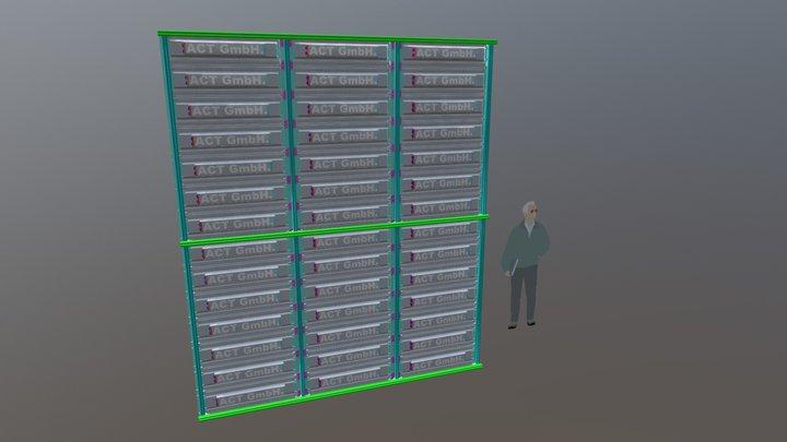 3 x 3,5m Videowand 3D Model