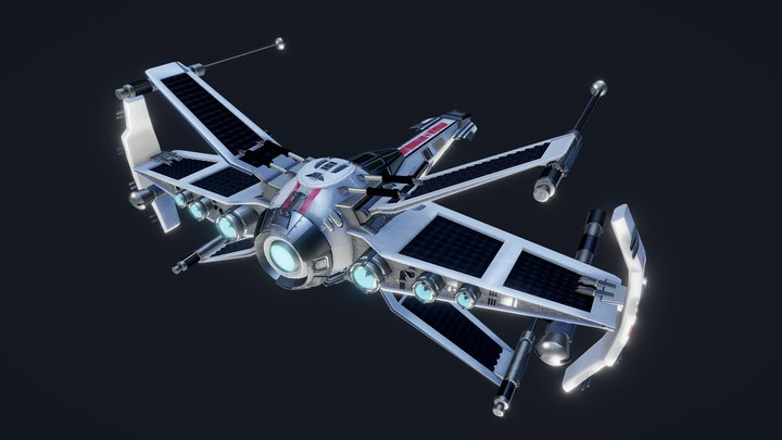 SKYFIGHTER (a redesigned X-Wing) 3D Model
