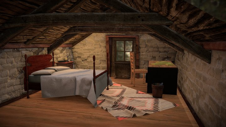 The room in the attic 3D Model