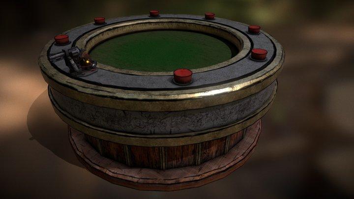 Russian Roulette Table 3D Model