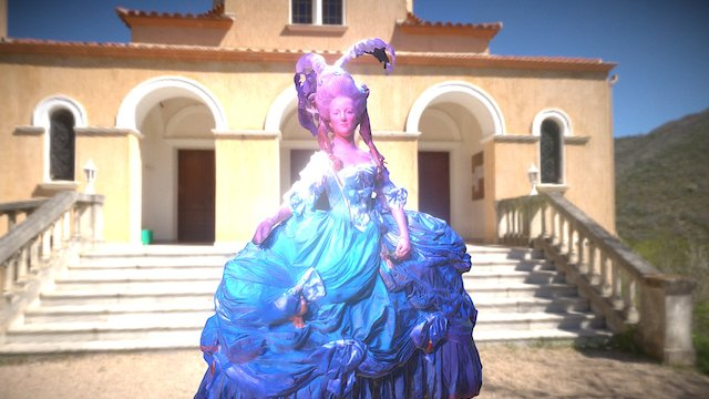 Marie Antoinette Wax Model @ Museé grevin 3D Model