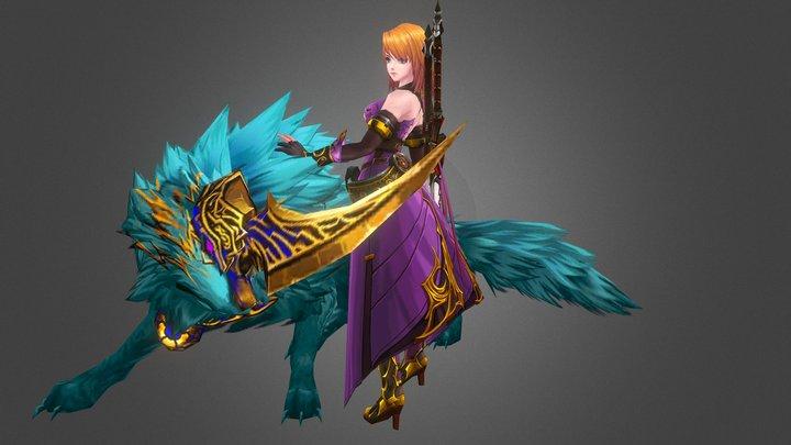 Kritika Wolf Guardian 3D Model