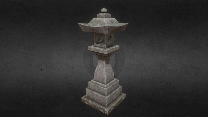 Old Japanese Lantern 3D Model