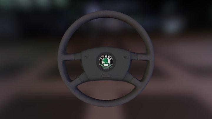 Škoda Fabia MKI Steering Wheel 3D Model