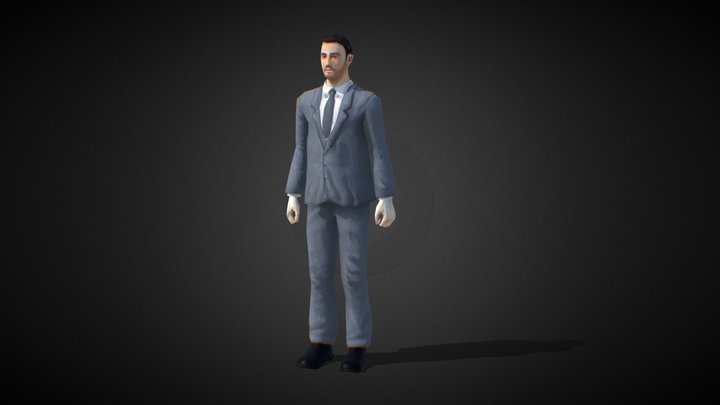 Business Man - Low Polygon game character 3D Model