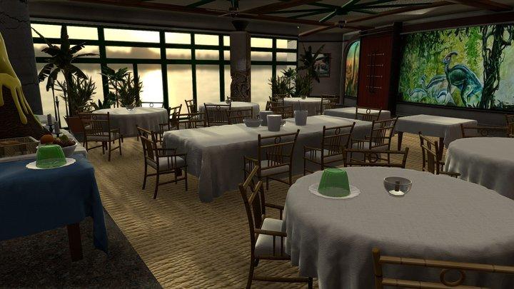 Jurassic Park Cretaceous Cafe 3D Model