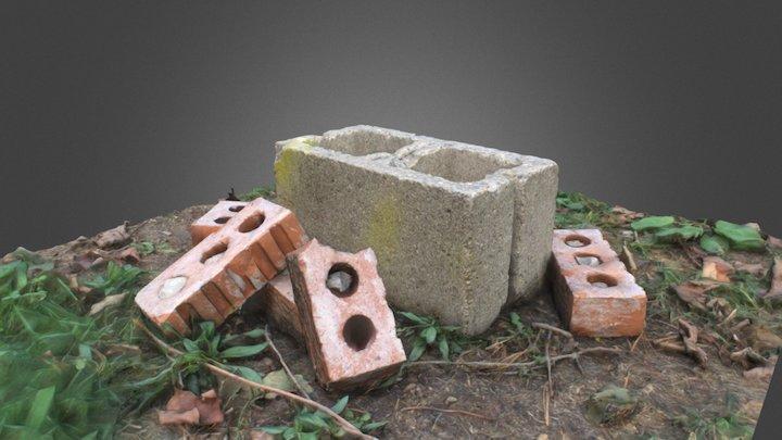 Bricks On The Ground (Photogrammetry) 3D Model