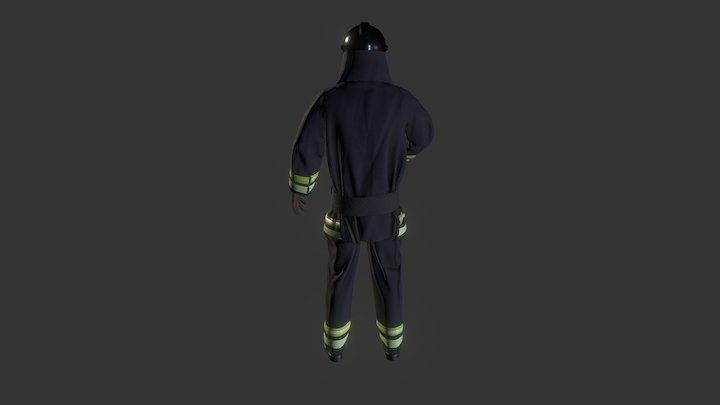 fireman's suit 3D Model