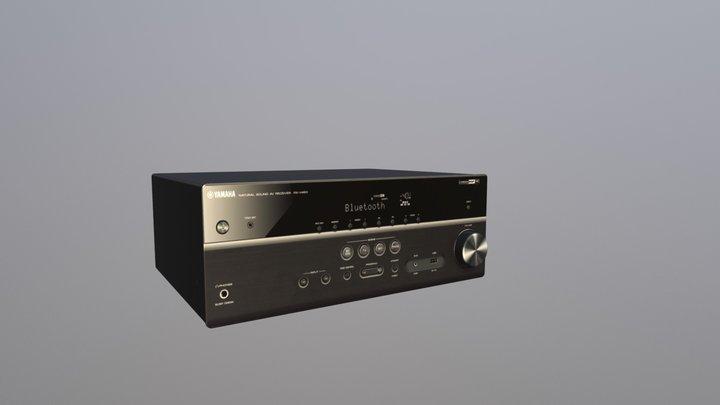 Yamaha Music Cast RX V483 Black 3D Model