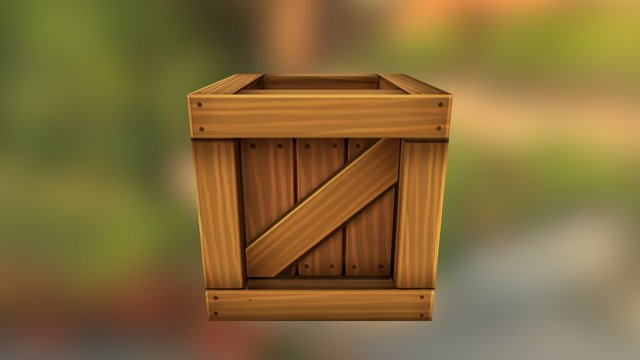 Asset_WoodenBox 3D Model