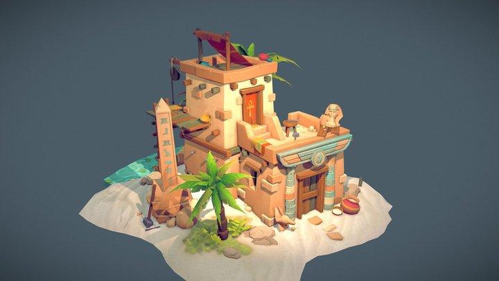 Egyptian stone mason's shop 3D Model