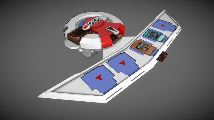 Yu-Gi-Oh Duel Disk! 3D Model