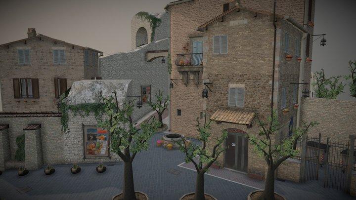 Assisi cityscene 3D Model