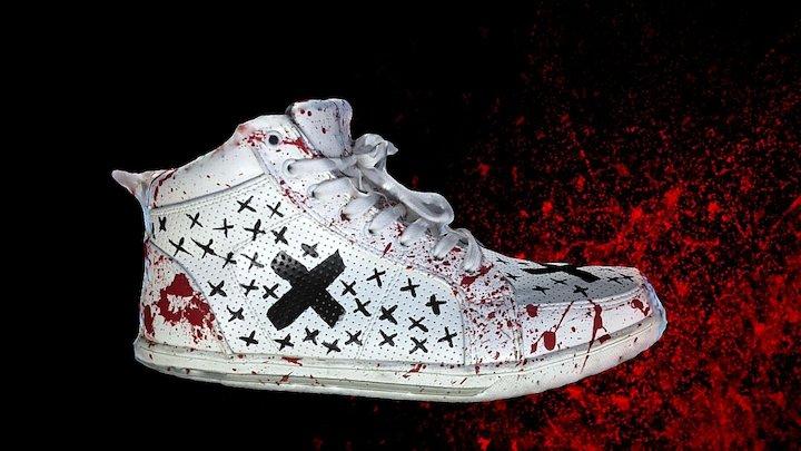 Custom Painted Sneaker 3D Model