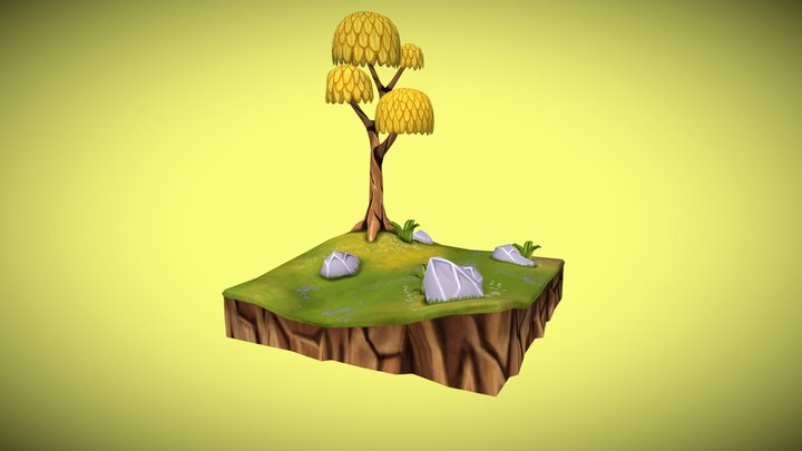 Lonely Tree 01 3D Model