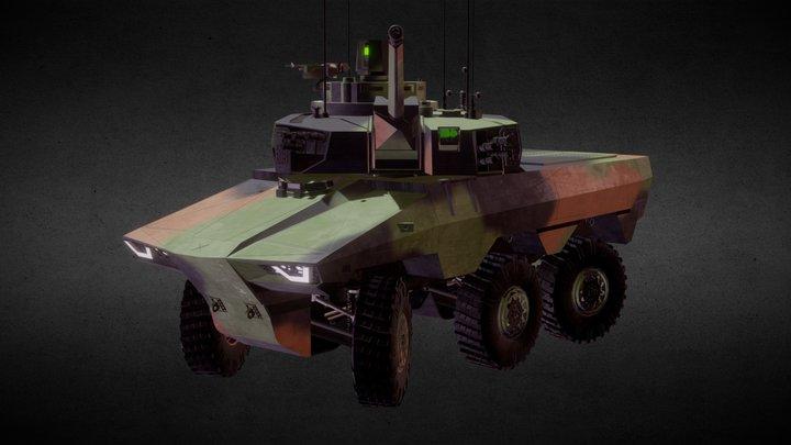 EBRC Jaguar 3D Model
