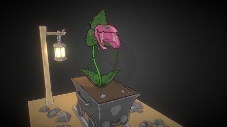 Mine cart Plant 3D Model