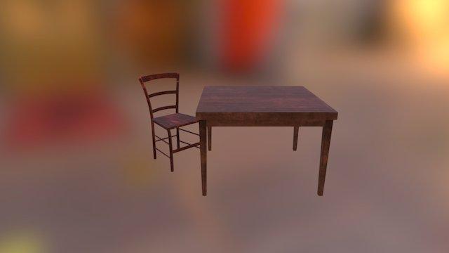 C_Table001 3D Model