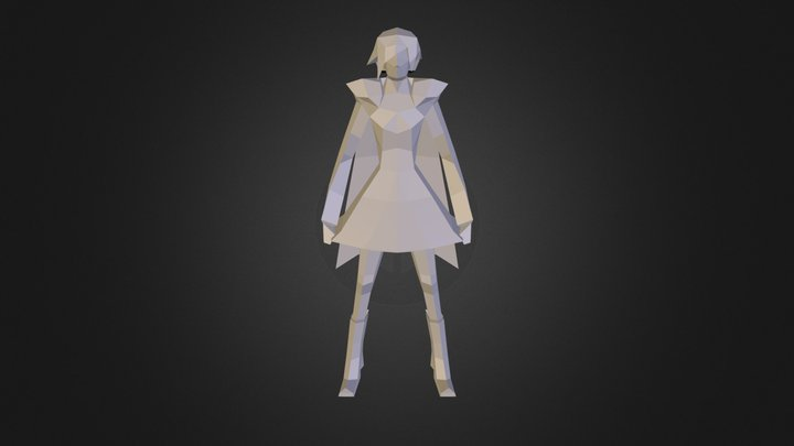 Ruby Rose(Low-Poly) 3D Model