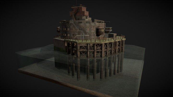 Bull Sand Fort, Humber Estuary, WW2 3D Model