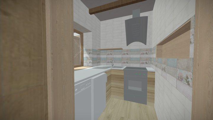 Cserkúti kisház 3D Model