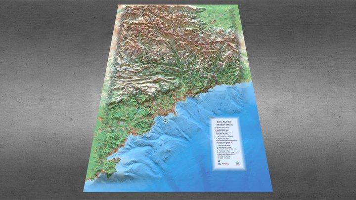 Alpes maritimes 3D Model