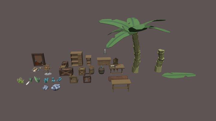 Pirate things 3D Model