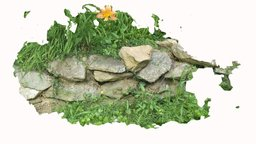 front yard rocks and flower 3D Model