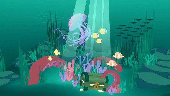 Underwater Treasures 3D Model