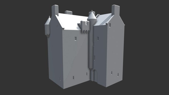 Blairfindy Castle (basic model) 3D Model
