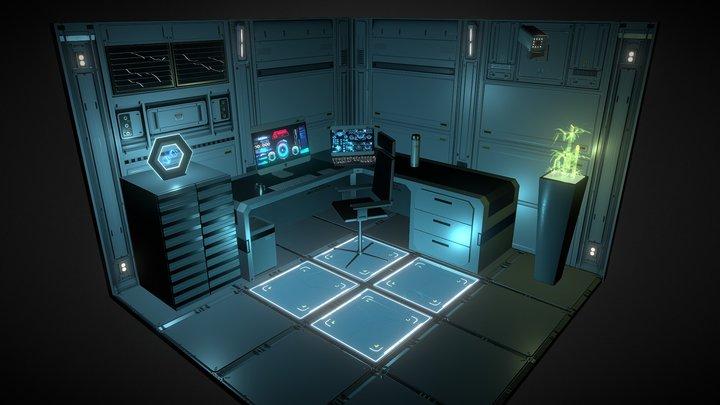 Underground Office Diorama 3D Model