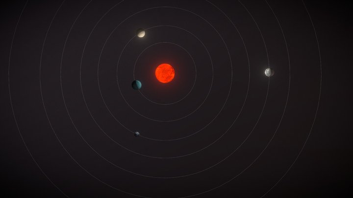 Trappist-1 Exoplanetary System 3D Model