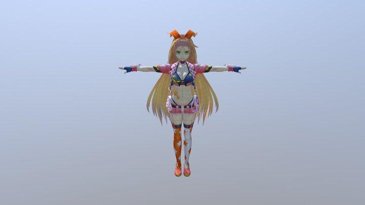 Unity-chan (rock-star) (Corrected For Blender) 3D Model