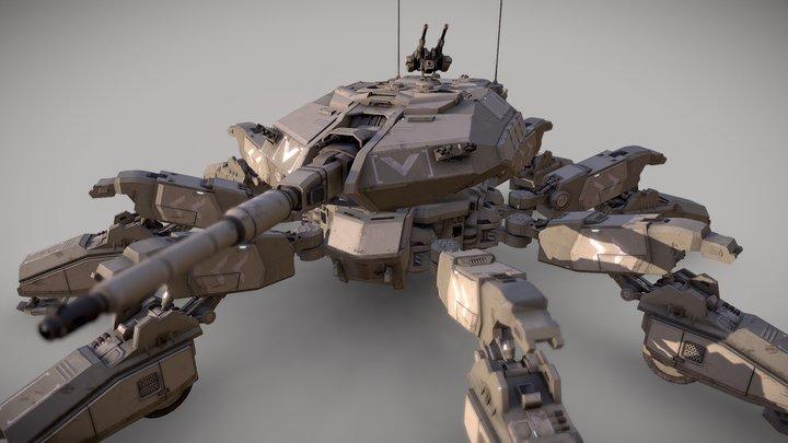Spider Tank A17 3D Model