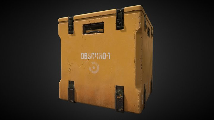 SM Obscuro Crate 3D Model