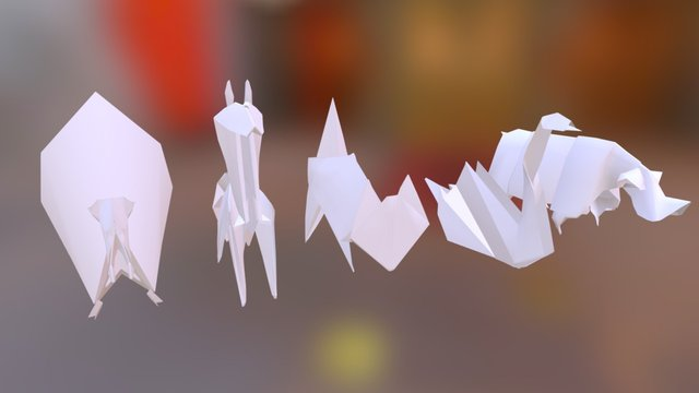 All Origami BUNDLE 3D Model