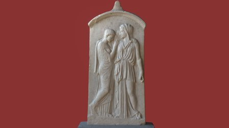 Funerary Stele of Krito and Timarista 3D Model