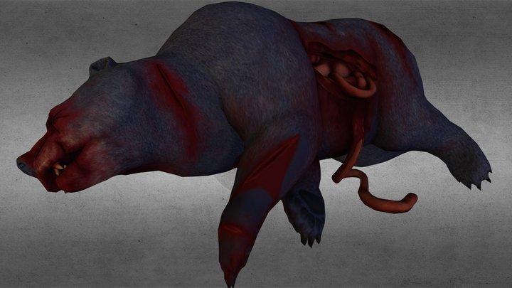 Bear Carcass 3D Model